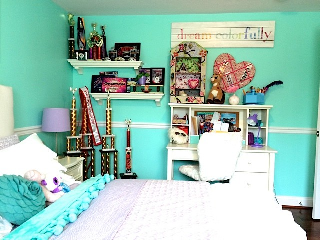 Throw Pillows Pottery Barn Spaces Transitional with Aqua Built in Bookshelves Built In1