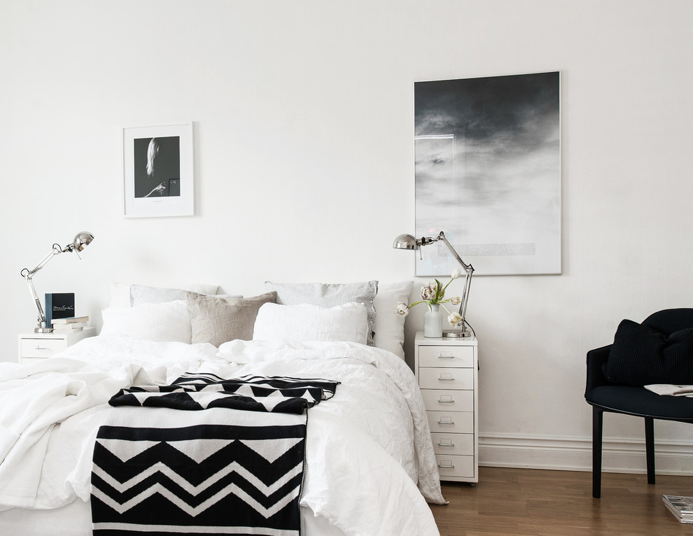 Toss Pillows Bedroom Scandinavian with Artwork Prints Interior Design