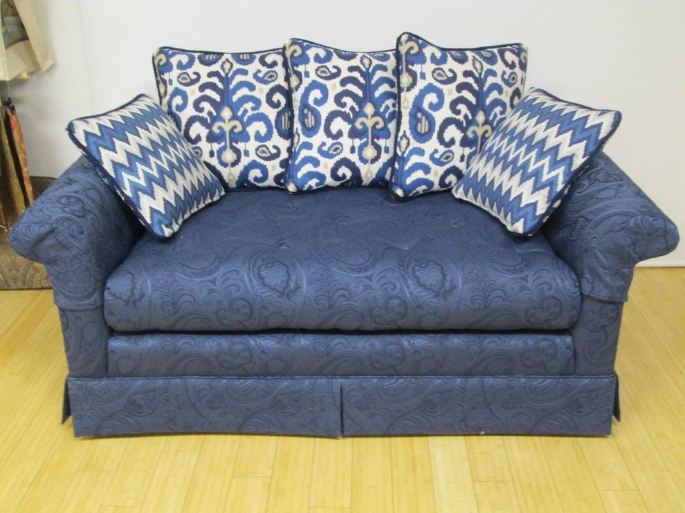 toss pillows for sofa Spaces Transitional with Accent Pillows matelass navy