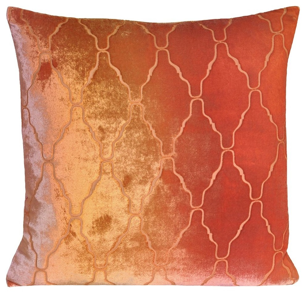 Velvet Decorative Pillows Spaces Modern with Decorative Pillows Hand Dyed1