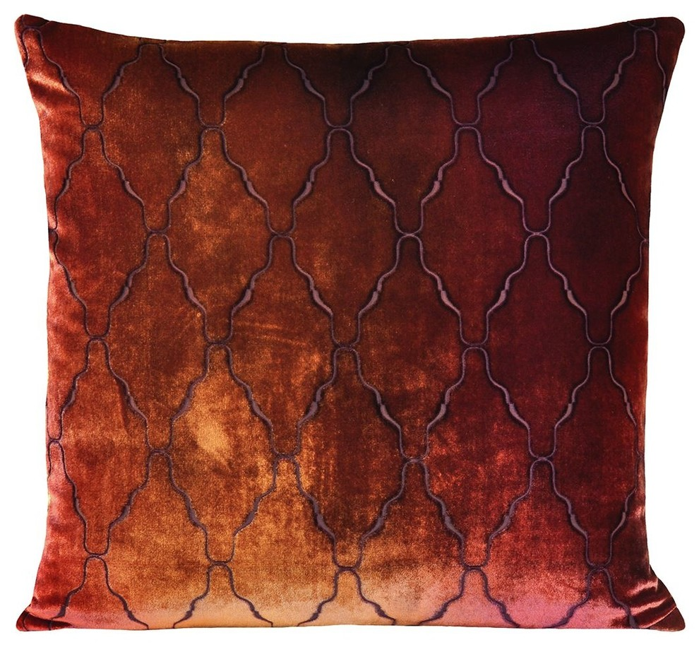 Velvet Decorative Pillows Spaces Modern with Decorative Pillows Hand Dyed3
