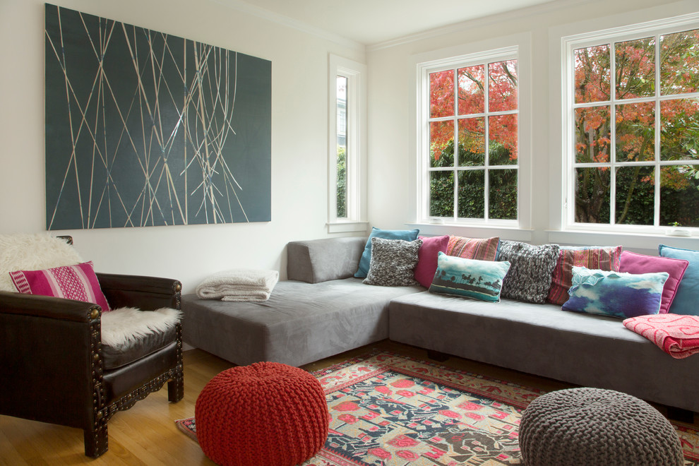 west elm pillows Living Room Eclectic with My Houzz