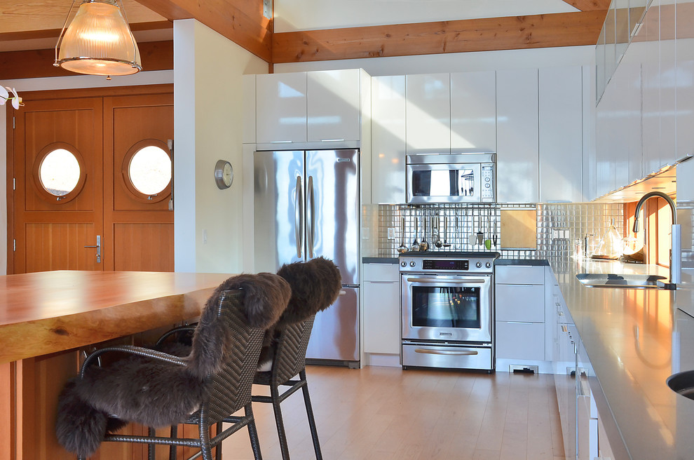 What is the Size of a Euro Pillow Kitchen Contemporary with Backsplash Counter Stools Gray