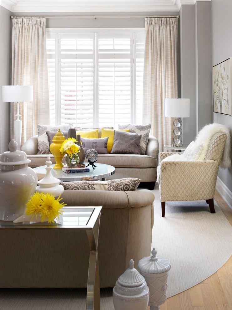 Yellow Toss Pillows Living Room Transitional with Antique Loveseat Area Rug