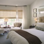 Bay Window Curtain Rod  Transitional Bedroom with Natural Light