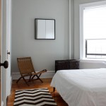 Benjamin Moore Gray Owl  Modern Bedroom with Chair