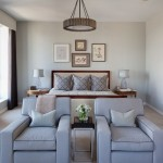 Benjamin Moore Gray Owl  Traditional Bedroom with Seating Area