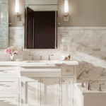 Benjamin Moore Revere Pewter  Traditional Bathroom with Taupe Wall