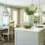 Benjamin Moore Stonington Gray  Beach Style Kitchen with Casual Dining