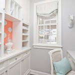Benjamin Moore Stonington Gray  Contemporary Home Office with White Wood