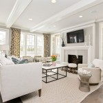 Benjamin Moore Stonington Gray  Transitional Living Room with Ceiling Lighting