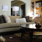 Bernhardt Sofa  Eclectic Family Room with Built in Shelves