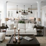 Bernhardt Sofa  Traditional Living Room with Columns