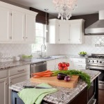 Bianco Antico Granite  Contemporary Kitchen with Cloud White