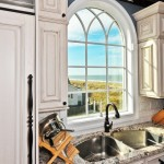 Bianco Antico Granite  Mediterranean Kitchen with Exposed Beams