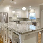 Bianco Antico Granite  Traditional Kitchen with Wood Floors