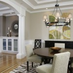 Bleeker Beige  Contemporary Dining Room with Modern Rug