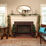Bleeker Beige  Farmhouse Living Room with Brick Fireplace