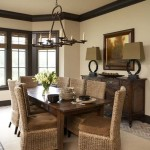 Bleeker Beige  Traditional Dining Room with Lamp