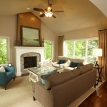 Bleeker Beige  Traditional Family Room with Martha Ohara Interiors