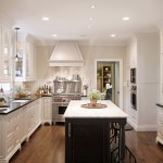 Bleeker Beige  Traditional Kitchen with Wood Floors