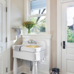 Bleeker Beige  Transitional Entry with Mudroom