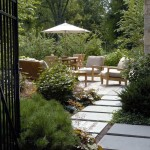 Bluestone Pavers  Contemporary Patio with Outdoor Seating