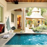 Bluestone Pavers  Craftsman Pool with Relaxation