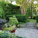 Bluestone Pavers  Traditional Landscape with Crepe Myrtle