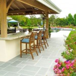 Bluestone Pavers  Traditional Patio with Flower Garden