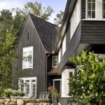 Board and Batten Siding  Traditional Exterior with Landscaping