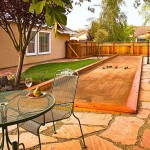 Bocce Ball Court  Eclectic Landscape with Backyard