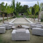 Bocce Ball Court  Farmhouse Landscape with Mulberry Trees