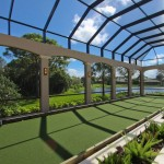 Bocce Ball Court  Traditional Porch with Natural Lighting