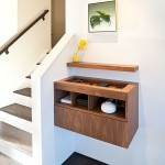 Charging Station Organizer  Midcentury Entry with Wall Decor