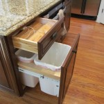 Charging Station Organizer  Traditional Kitchen with Trash Pull Out Phone Charging Station
