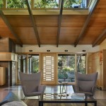 Clerestory Windows  Midcentury Living Room with High Clerestory Windows