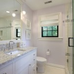 Colonial Cream Granite  Contemporary Bathroom with Small Bathroom
