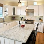 Colonial Cream Granite  Traditional Kitchen with Apron Front Sink