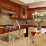 Colonial Cream Granite  Traditional Kitchen with Colonial Cream