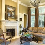 Cornice Boards  Mediterranean Living Room with Fauteuil