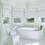 Cornice Valance  Mediterranean Bathroom with Green Tile