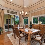Cornice Valance  Mediterranean Dining Room with Mediterranean