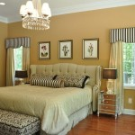 Cornice Valance  Traditional Bedroom with Stripe