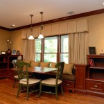 Cornice Valance  Traditional Family Room with Window Treatments