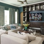Cowhide Ottoman  Contemporary Family Room with Sectional