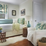Daybed with Pop Up Trundle  Beach Style Bedroom with Green Pillows