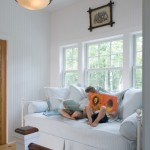 Daybed with Pop Up Trundle  Traditional Kids with Painted Wood Wall