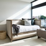 Daybed with Pop Up Trundle  Transitional Bedroom with Carpet