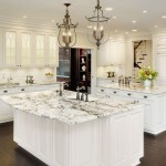 Delicatus Granite  Traditional Kitchen with Ceiling Lighting